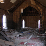 All plaster & lath was removed by Dearborn Demolition.